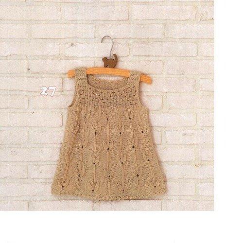 knitting tree dress for little baby