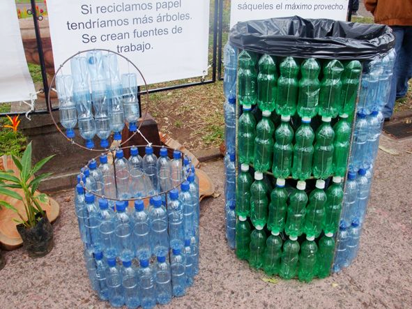 Recycling plastic bottles: creative and clever with plastic bottles