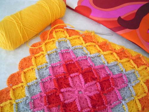 crochet colorful corver for your home