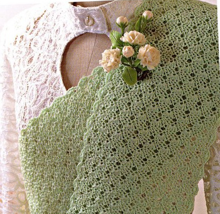 Crochet - Crochet Scarf Patterns - Roses & Lace Scarf