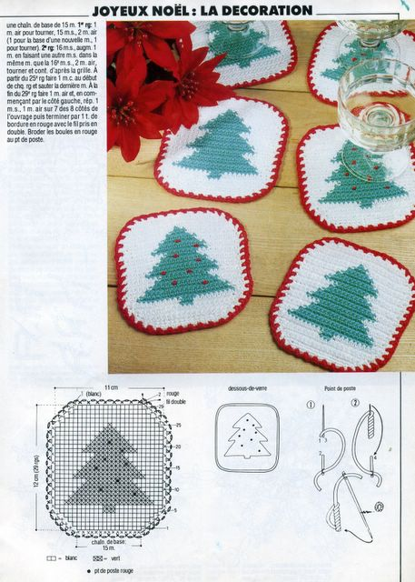 crochet christmas tree dishcloths, crochet patterns