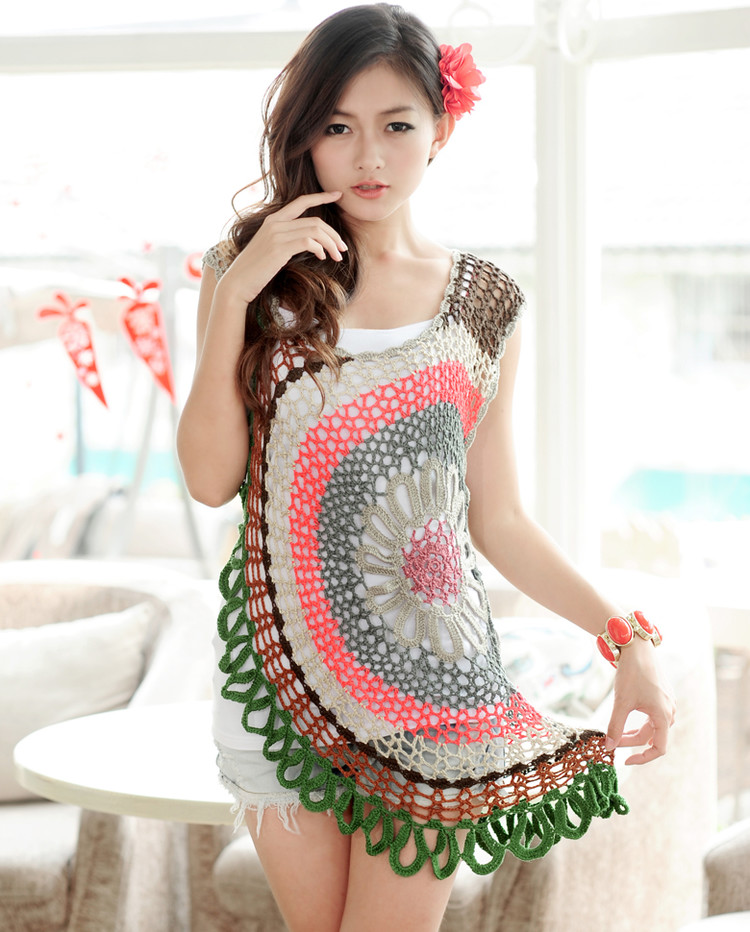 crochet lace beauty dress for girl
