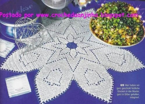 napperon étoile et cloches
