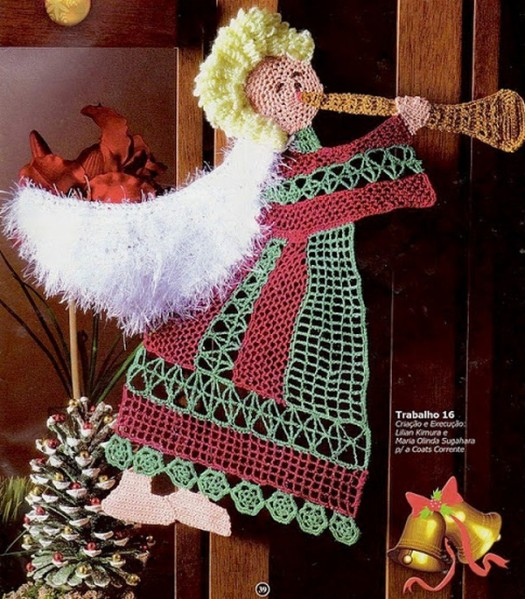 Crochet Angel Baptism Gift Christmas Lace Angel Ornament Tree: Charming Christmas Decorations