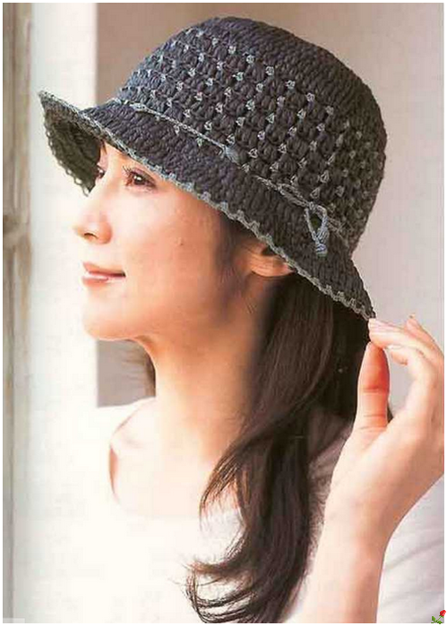 crochet beauty summer hat