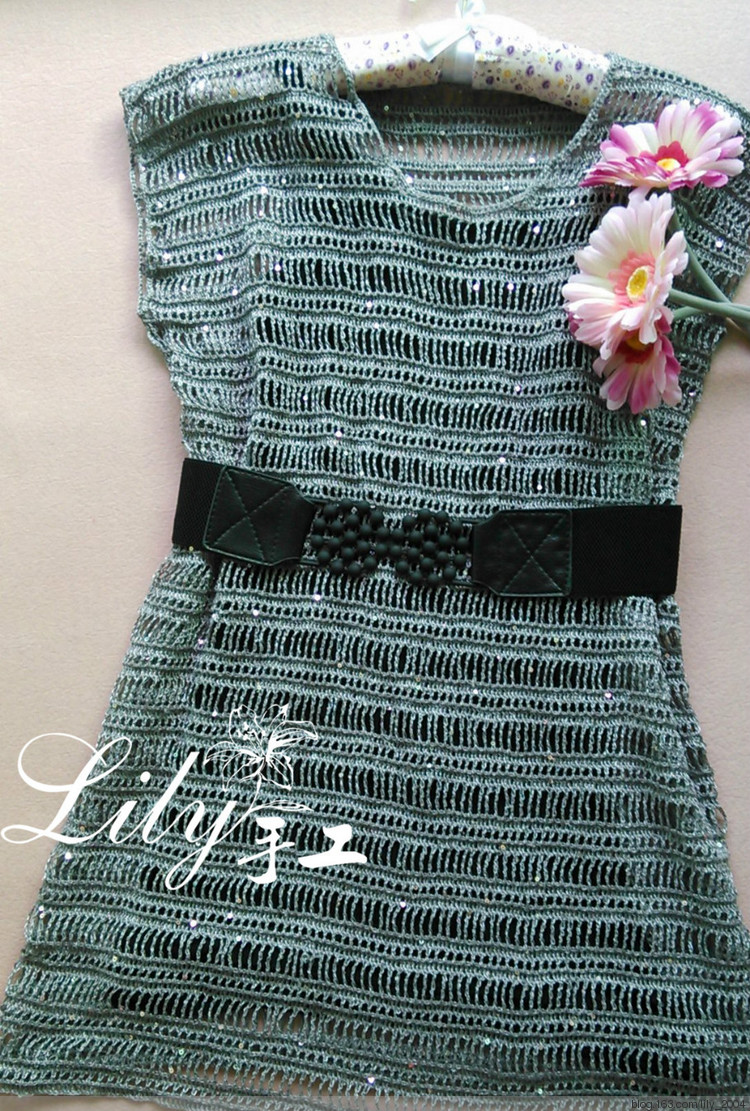 crochet charming lace dress for girl