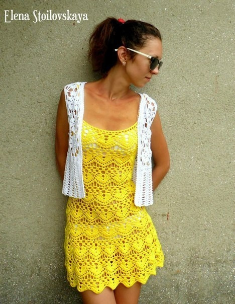 crochet easy and beauty summer dress