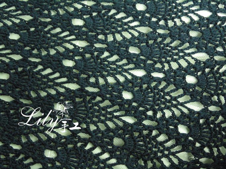 【Lily手工】--沁熙-又见黛痕--丝棉亚麻菠萝裙 - Lily - Lily的手工编织天地