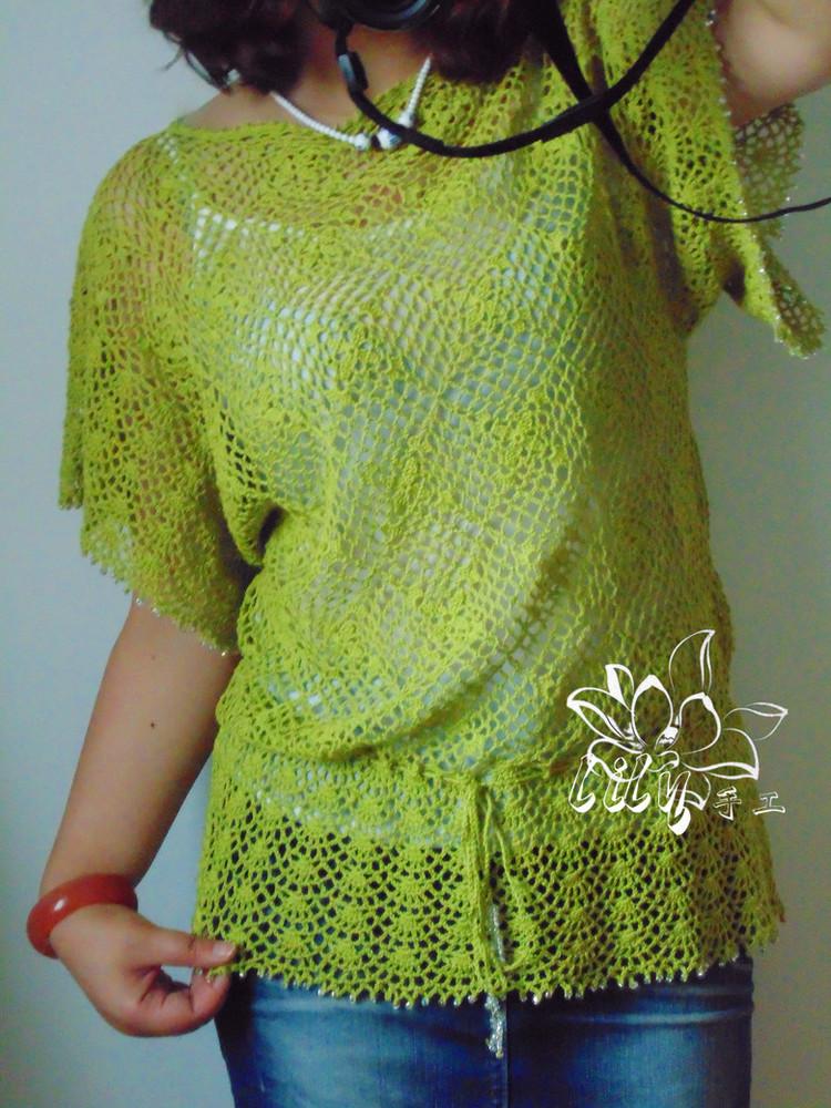 【Lily手工】--如茵--清新拼花蕾丝上衣 - Lily - Lily的手工编织天地