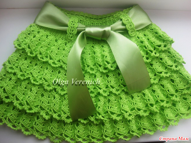 crochet layers skirt for lilte girl