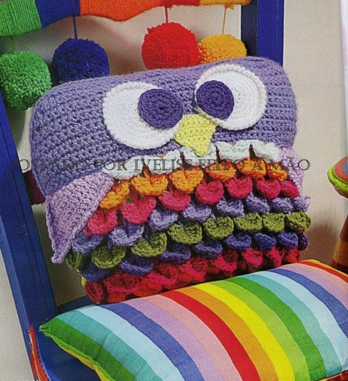 Free Crochet Owl Cushion Pillow Pattern : crafts ideas - crafts for kids - holiday craft ideas ...