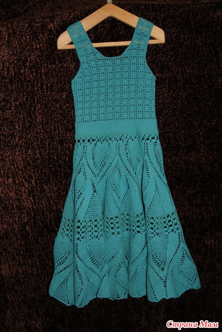 crochet pretty lace dress with tablecloth pattern