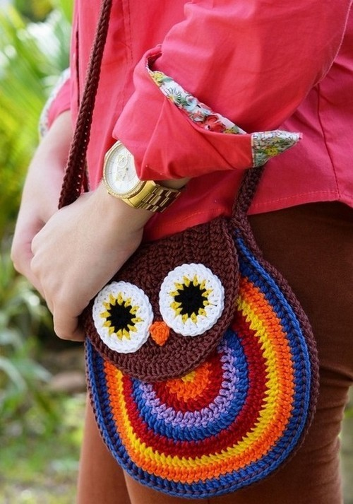 crochet so pretty owl purse and bag