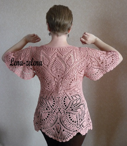 crochet pullover with doily pattern