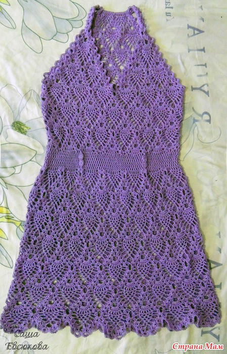 Crochet Summer Tank Top Dresses Of Pineapple Stitch Crafts Ideas