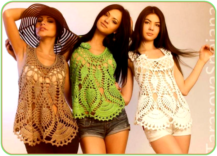 crochet summer tops for beach