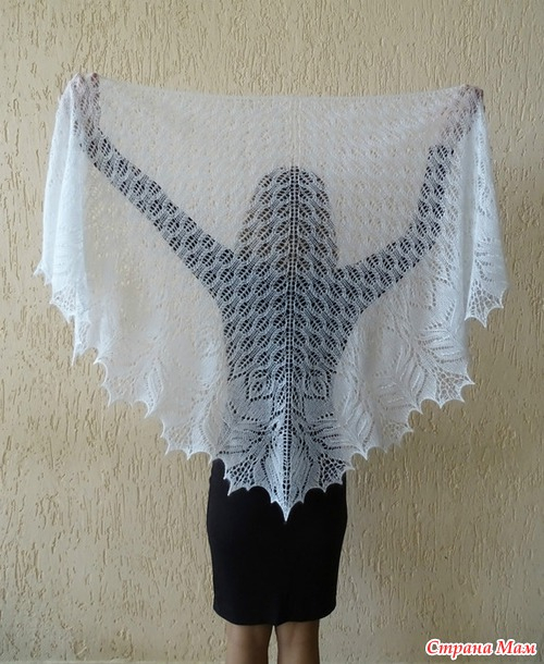 knitting so cute lace shawl for ladies